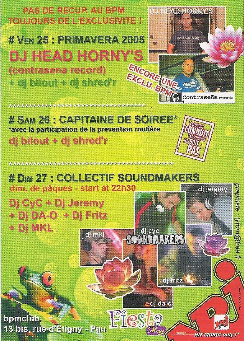 1° Anniversaire Sound Makers @ BPM Club (France)