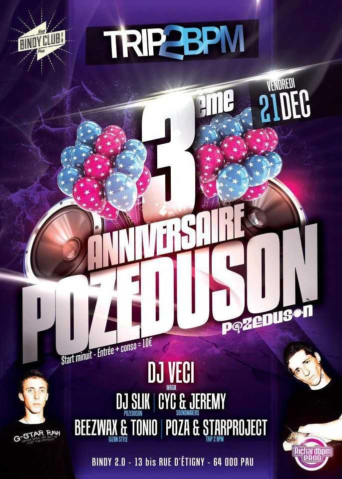 CyC & Jeremy (Sound Makers) @ TRIP2BPM - ANNIVERSAIRE POZEDUSON (Bindy 2.0/64)