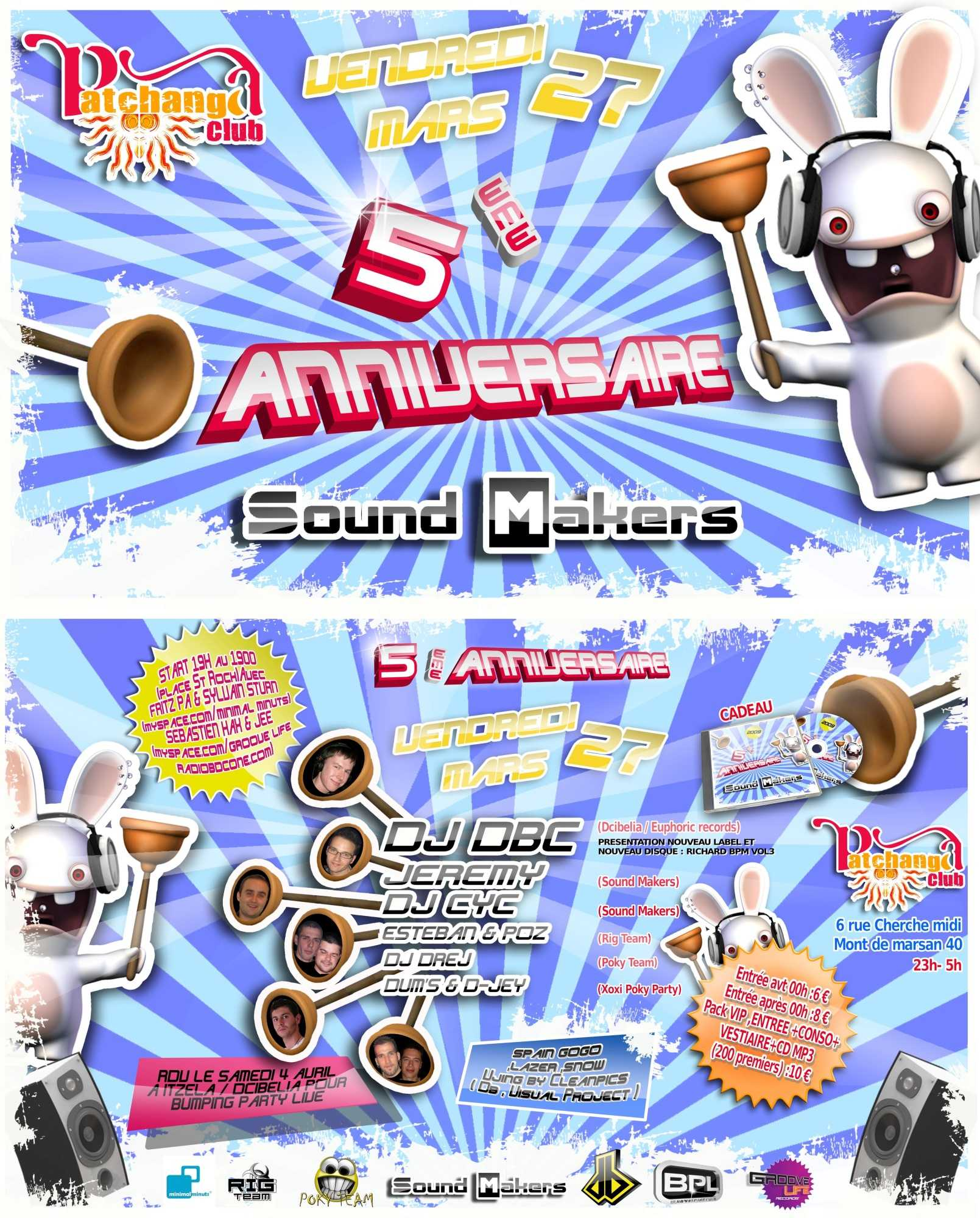 5° Anniversaire Sound Makers @ Patchanga (France)