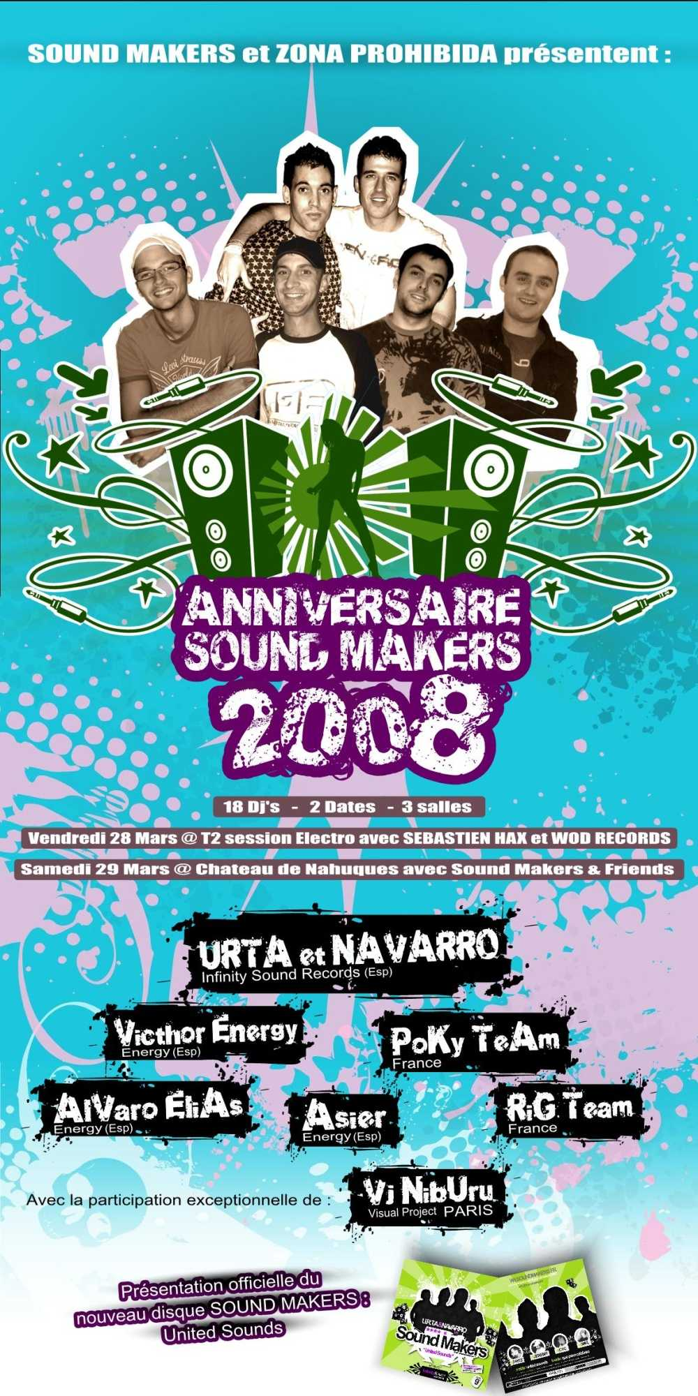 4° Anniversaire Sound Makers @ Château de Nahuque (France)
