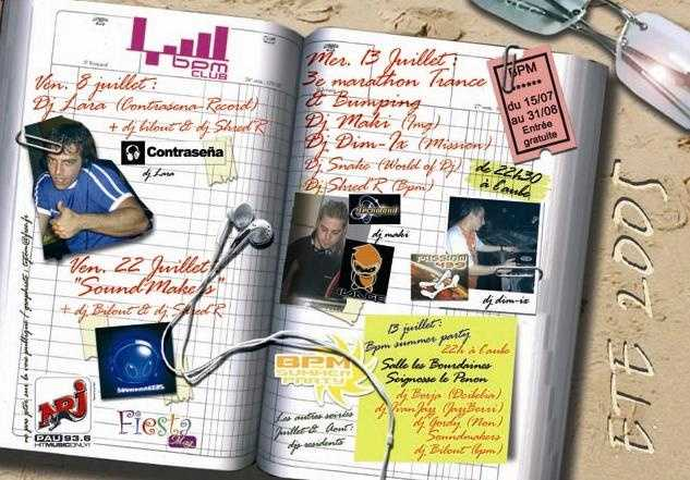Spéciale Sound Makers @ BPM Club (Pau) avec Fritz & MKL (Sound Makers), Bilout & Shred'r (BPM Club)